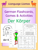 German Parts of the Body - Der Korper - flashcards, games