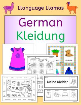German Clothing - Kleidung - flashcards, actvities and games