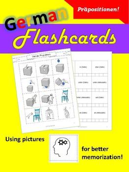 German Flashcards - Präpositionen!