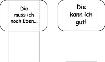 German Flashcards Template