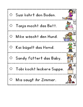 German Fluency Strips