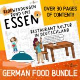 German Food Bundle, Restaurants, German Food Idioms, Readi