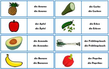 German Food Flashcards Bundle - 73 flashcards