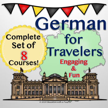 German For Travelers Bundle of 8 Complete PowerPoint Presentations
