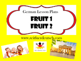 Food Bundle. Fruit and Breakfast German Powerpoints, Lesso