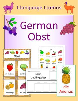 German Fruit - Obst - activities, puzzles and games
