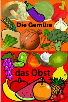 German Fruit and Veg - Multi-pack PowerPoint x2, Worksheet x2 + Flashcards x2