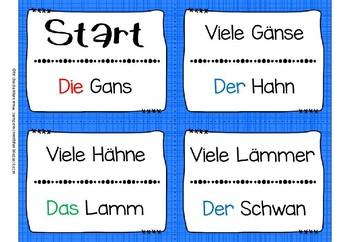 German Game- Lesespiel Mehrzahl: aus A wird Ä