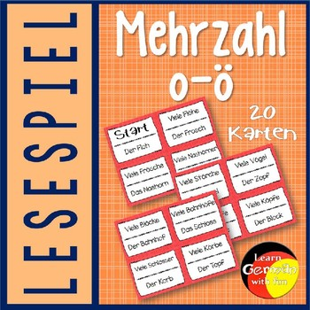 German Game- Lesespiel Mehrzahl: aus O wird Ö
