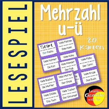 German Game- Lesespiel Mehrzahl: aus U wird Ü