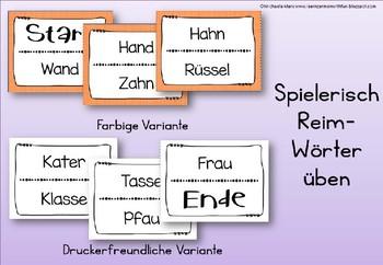German Game- Lesespiel Reimwörter