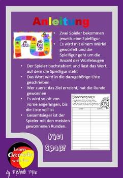 German Game- Lesespiel für den Deutsch- und DaF-Unterricht