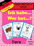 "German Game Vocabulary -Animals- ""Ich habe...Wer hat...? Tiere"""