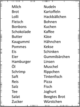 "German Game Vocabulary -Food- ""Ich habe... Wer hat...? Lebensmittel"""