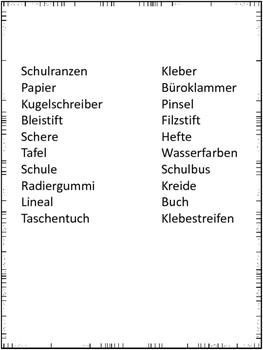 """German Game Vocabulary -School- """"Ich habe...Wer hat...? Schule"""""""