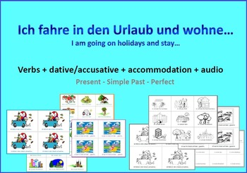 German - Games: Topic Holidays - Vocab Accommodation Dative Verbs & Audio