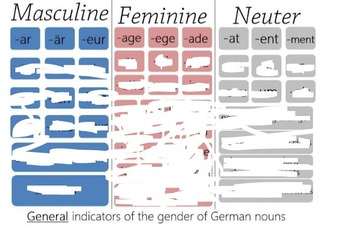 german noun gender endings by fun and easy language study tpt. Black Bedroom Furniture Sets. Home Design Ideas