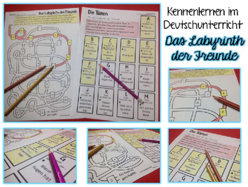 German Get To Know Activity- Das Labyrinth der Freunde- DaF-Unterricht