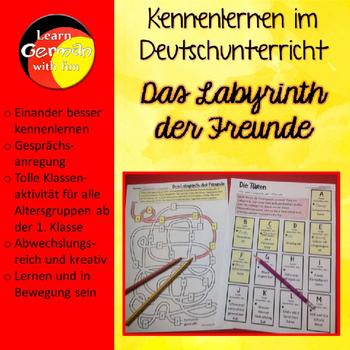 German Get To Know Activity- Das Labyrinth der Freunde- Da
