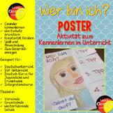 German Get To Know Activity- Wer bin ich? Poster- Kennenlernen im DaF-Unterricht