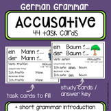 German Grammar - Accusative case - Task cards - German Language