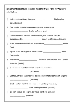 German Grammar - Cloze Tests
