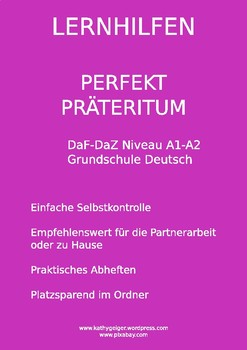 German Grammar - Das Perfekt und Präteritum, level A1-A2
