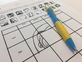 German Grammar Graphic Worksheet - Till Eulenspiegel and Simple Past Tense Verbs
