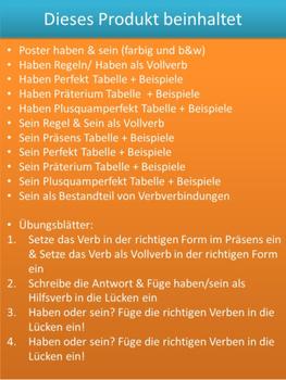 German Grammar - Haben und Sein - Übungen, Regeln, Arbeitsblätter ...