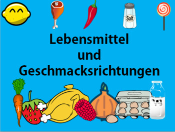 German Groceries and Flavours Vocabulary PowerPoint