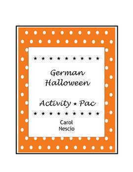 German Halloween Activity * Pac