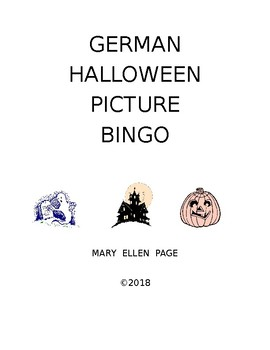 German Halloween Picture Bingo