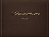 German (Deutsch) - Halloween Vocabulary - PowerPoint