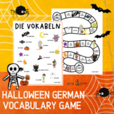 German Halloween Vocabulary Game