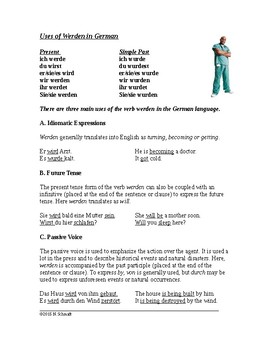 German Handout: The Uses of Werden (Idioms, future tense,