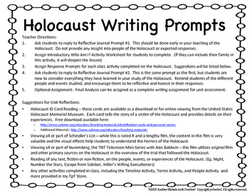German Holocaust Writing Prompts Google Drive Lessons