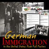 German Immigration to the United States - Push Pull Factors