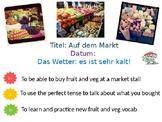 """German Intermediate Lesson """"Auf dem Markt"""""""