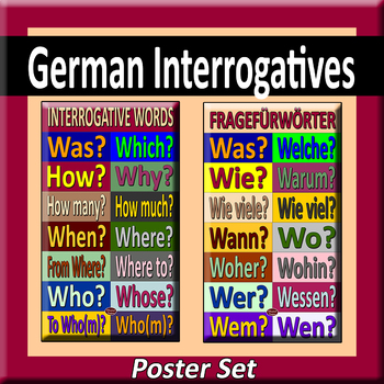 German Interrogatives Poster Pair