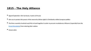 German & Italian Unification Treaties