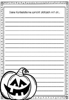 German Journal Halloween- Deutsches Journal mit vielen Schreibanlässen