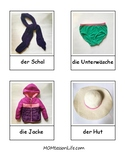 German Language Clothing 3-Part Cards