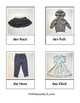 German Language Clothing 3-Part Cards