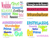 German Language Praise & Motivation Postcards