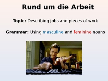 German Lesson - Career Choices and Jobs