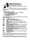 German Level 1 - Sample Skit and Presentation Guidelines