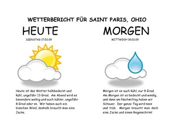 German Level 1 - Sample Weather Forecast Project