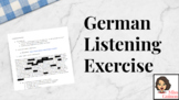 German Listening Exercise