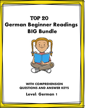 German MEGA Reading Bundle: Top 15 Readings at 50% OFF! Lesungen A1/A2