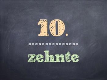 German Math Ordinal Numbers PowerPoint